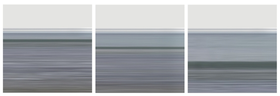 Perranporth wave breaking triptych