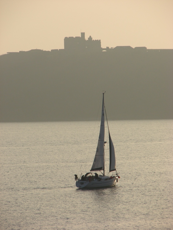 Yacht at St Mawes